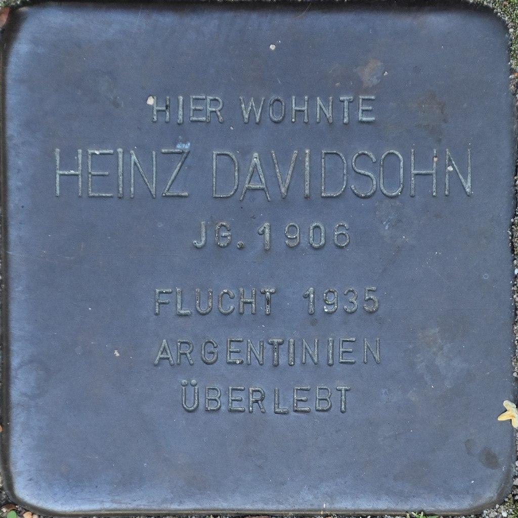 Hagenow Stolperstein Parkstraße 33 Davidsohn, Heinz