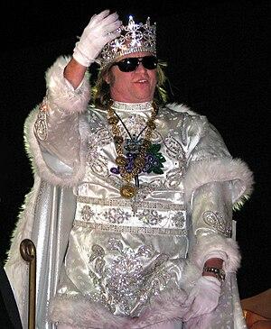 Val Kilmer - Kilmer reigning as Bacchus; parade in New Orleans during Mardi Gras in 2009