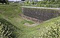 Half-buried wall, Candi Sambisari complex, Sleman, Yogyakarta 02.jpg