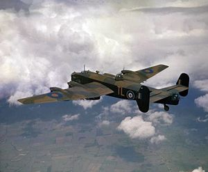 Halifax II 35 Sqn RAF in flight c1942.jpg