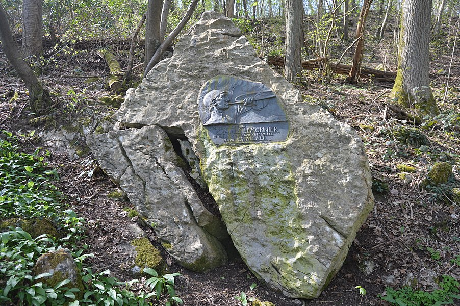 Monument to Camille Lemnoier, in the Esneux / Ham woods, Belgium.
