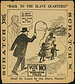 Handbill with engraving by Jack Smith- Back To the Slave Quarters! Vote No On Segregation Feb. 29, 1916.jpg