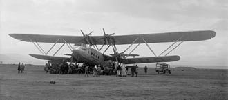 Warren truss - A Handley Page H.P.42 shows off its interplane trusses