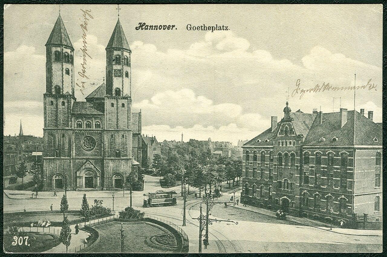 datei hannover goetheplatz um 1900 garnisonkirche und wikipedia. Black Bedroom Furniture Sets. Home Design Ideas