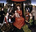 Hans Memling - The Mystic Marriage of St Catherine - WGA14861.jpg