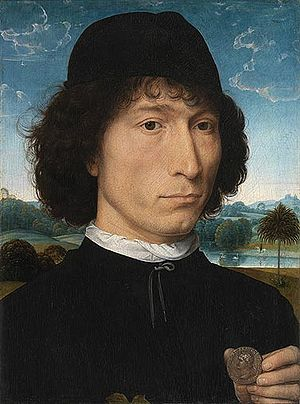 Royal Museum of Fine Arts Antwerp - Hans Memling, Portrait of a Man with a Roman medal