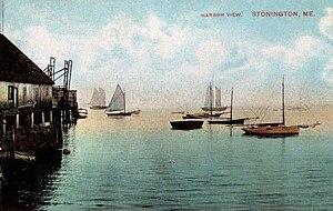 Stonington, Maine - Harbor view c. 1910