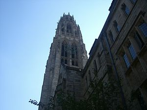 Harkness Tower on Campus of Yale University