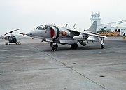 A parked Harrier