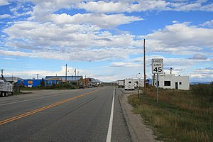 Hartsel, Colorado - U.S. Highway 24 passing through Hartsel