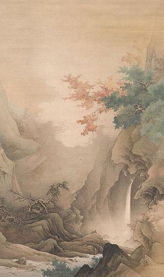 Hashimoto Gahō - White mangrove (白雲紅樹). 1890, Collection of Tokyo University of the Arts
