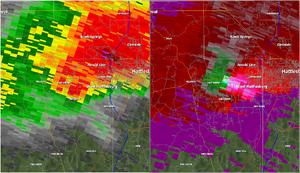 2013 Hattiesburg, Mississippi tornado - Radar imagery of the supercell that produced the Hattiesburg tornado.
