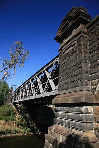 Lilydale railway line - Bridge over the Yarra River at Hawthorn