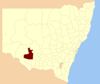 Hay Shire - Location of Hay Shire in New South Wales