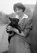 Hazel MacKaye and dog by Harris & Ewing.jpg