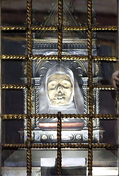 File:Head of Saint Catherine of Siena - San Domenico - Siena 2016.jpg