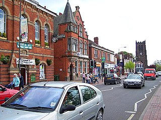 Heanor Town in Derbyshire, England