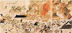 Japanese painting - Siege of Sanjō Palace