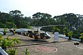 Helicopter on the top of reunification palace building - panoramio.jpg