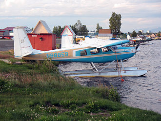 Helio Courier - Helio Courier H-295 on floats, Lake Hood Seaplane Base, Anchorage, AK