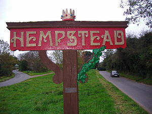 Hempstead, near Holt, Norfolk - Image: Hempstead Village Sign October 25th 2007 (1)