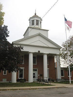 Henderson County, Illinois - Image: Henderson County Courthouse, Oquawka