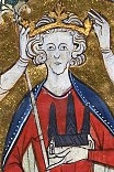 A 13th-century depiction of Henry III's coronation