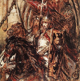 Mongol invasion of Europe - Henry II the Pious who lost his life at the battle of Legnica, 19th-century painting by Jan Matejko.