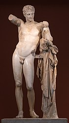 Hermes and the infant Dionysus by Praxiteles.jpg