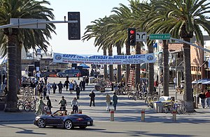 Hermosa Beach, California - Pier Plaza in downtown Hermosa Beach