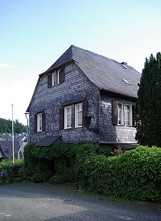 Herrstein - Slate-clad house
