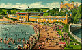 Hersheypark swimming pool sandy beach 1941.JPG