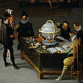 Hieronymus Francken (II) or Adriaan van Stalbemt - The Geographer and the Naturalist.jpg