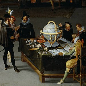 The Sciences and the Arts (Prado) - Image: Hieronymus Francken (II) or Adriaan van Stalbemt The Geographer and the Naturalist