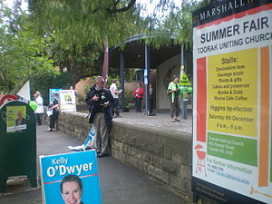 Higgins by-election, 2009 - A polling booth at Toorak on polling day