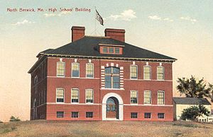 North Berwick, Maine - High School in 1910, now Town Offices