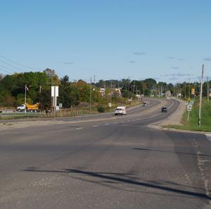 Ontario Highway 53 - Highway 2 and Highway 53 split southwest of Ancaster