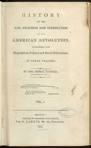 History of the Rise, Progress, and Termination of the American Revolution - Note the singeing of the title page.