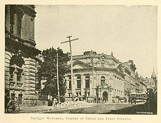 Brookfield Place (Toronto) - The building now used for the Hall, as a Bank of Montreal branch in the 1890s