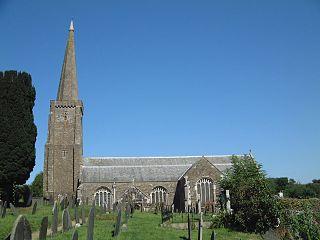 Holbeton farm village in the United Kingdom
