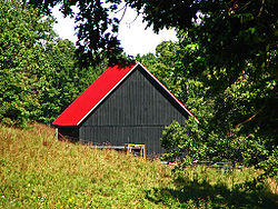 A barn in the township