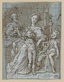 Holy Family with the Infant St. John the Baptist (recto); large-scale cropped sketches of draperies and legs (verso) MET DP869114.jpg