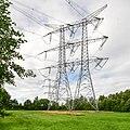 Hoogspanningslijn Geertruidenberg-Eindhoven nabij transformatorstation Eindhoven-Oost.jpg