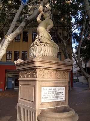 Samuel Hordern - Fountain at corner of Pyrmont Street and Pyrmont Bridge Road, Pyrmont, donated by Samuel Hordern