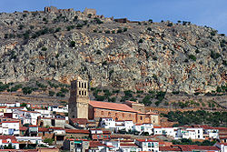 Skyline of Hornachos, Spain