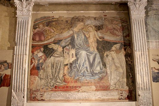 Hospital Scala sacristía, Madonna della Misericordia di Domenico di Bartolo