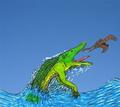 Hsisosuchus & Angustinaripterus JWArtwork.png