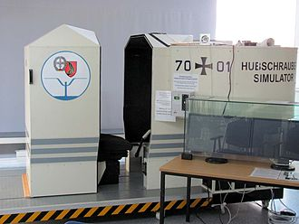 Hubschraubermuseum Bückeburg - Flight Simulator for virtual flights by visitors