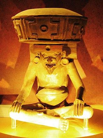 Huehueteotl - Statue of Huehueteotl (Museo Nacional de Antropología, Mexico City)