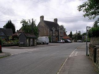 Hullavington village in United Kingdom